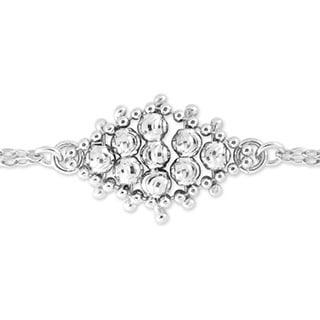 La Preciosa Sterling Silver Diamond-cut Beaded Bracelet