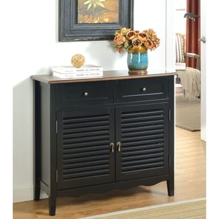 Furniture of America Bees Country Solid Wood 2- Shelf Hallway Chest