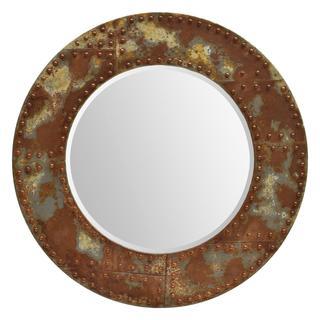 Ren Wil Renwil Samson Wood/ Iron Mirror