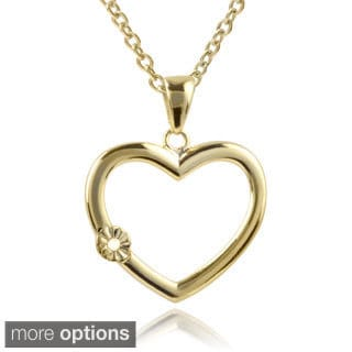 Journee Collection Sterling Silver Diamond Accent Heart Necklace
