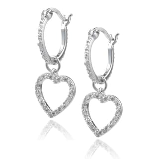 Journee Collection Sterling Silver Diamond Accent Dangle Earrings