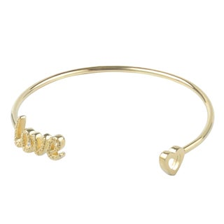 Journee Collection Sterling Silver Diamond Accent Love Bangle