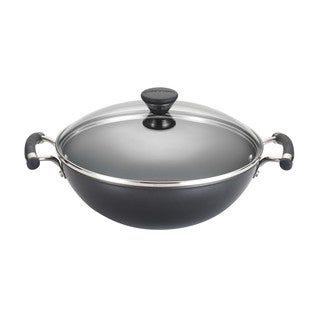 Circulon Acclaim Hard-Anodized Nonstick 12.5-Inch Covered Wok, Black
