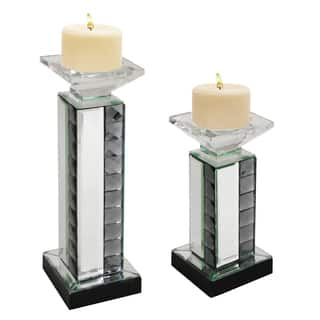 Mirrored Pillar Candle Holder (Set of 2)|https://ak1.ostkcdn.com/images/products/9929942/P17086213.jpg?impolicy=medium