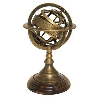 Mini Engraved Brass Tabletop Armillary Nautical Sphere Globe