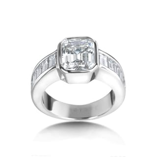 SummerRose 18kt White Gold 4 1/2ct TDW Emerald Certified Diamond Engagement Ring (G-H, VS1-VS2)