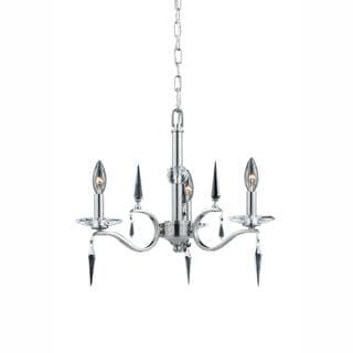 Silhouette Collection Lumenno International Transitional 3-light Satin Nickel Mini Chandelier