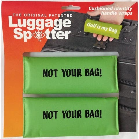 NOT YOUR BAG Bright Lime Green Original Patented Luggage Spotter