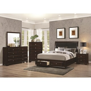 Copper Grove Mollice 4 Piece Cappuccino Bedroom Collection