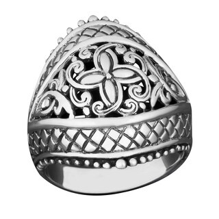 Sterling Silver Balinese Art Cawi Ring (Indonesia)