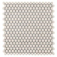 SomerTile 11.25x11.75-inch Asteroid Penny Round Almond Porcelain Mosaic Floor and Wall Tile (10 tiles/9.4 sqft.)