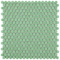 SomerTile 11.25x11.75-inch Asteroid Penny Round Capri Porcelain Mosaic Floor and Wall Tile (10 tiles/9.4 sqft.)