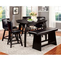 Furniture of America Karille Black 6-Piece Counter Height Dining Set