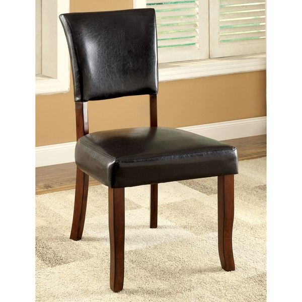 Shop Furniture Of America Hallins Medium Oak Dining Chair