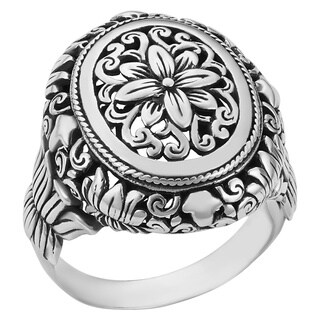Sterling Silver Floral Paradise Cawi Ring (Indonesia) (3 options available)