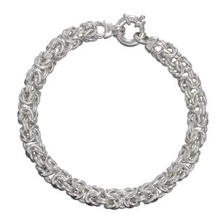 Sterling Silver 7.5-inch 8.5mm Byzantine Bracelet