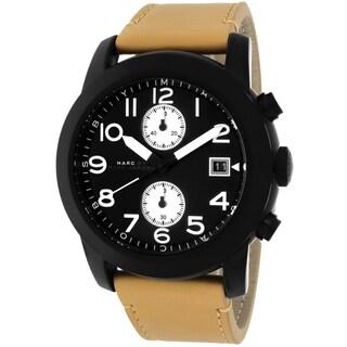 Marc Jacobs Men's MBM5053 Larry Round Beige Leather Bracelet Watch