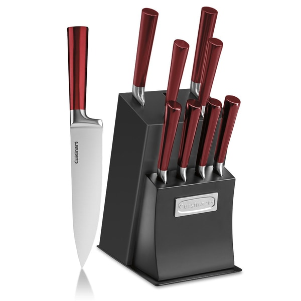Cuisinart Vetrano Collection Cutlery Red Black 11 Piece Knife Block Set
