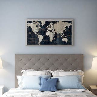 Framed Art Print 'Old World Map Blue' by Wild Apple Portfolio 43 x 24-inch|https://ak1.ostkcdn.com/images/products/9930255/P17086478.jpg?impolicy=medium
