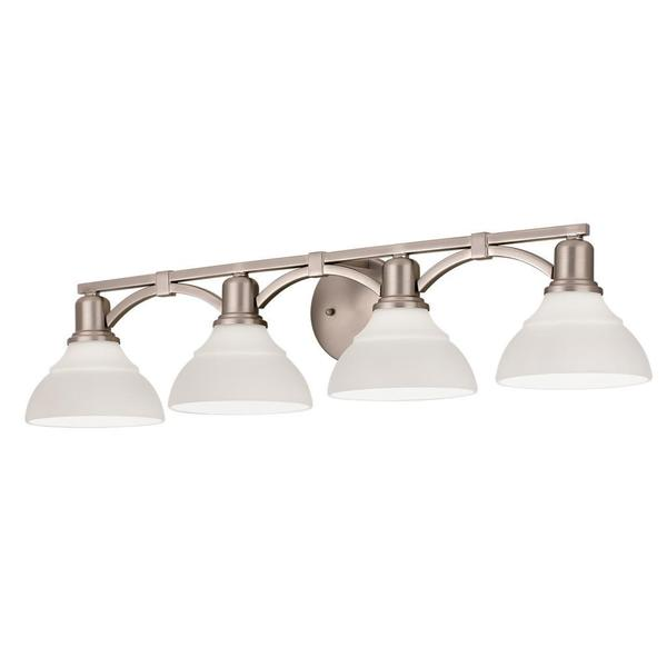 Kichler Lighting Transitional 4-light Brushed Nickel Bath/Vanity Light ...
