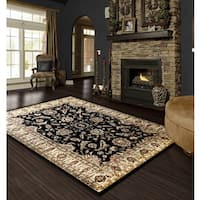 LYKE Home Audrey Black Area Rug