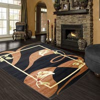 LYKE Home Audrey Black Area Rug - Multi - 8' x 11'