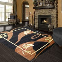 LYKE Home Audrey Black Area Rug - 5' x 8'