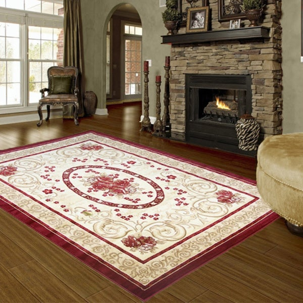 LYKE Home Audrey 595 Red Area Rug (8' x 11')