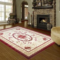 LYKE Home Audrey 595 Red Area Rug