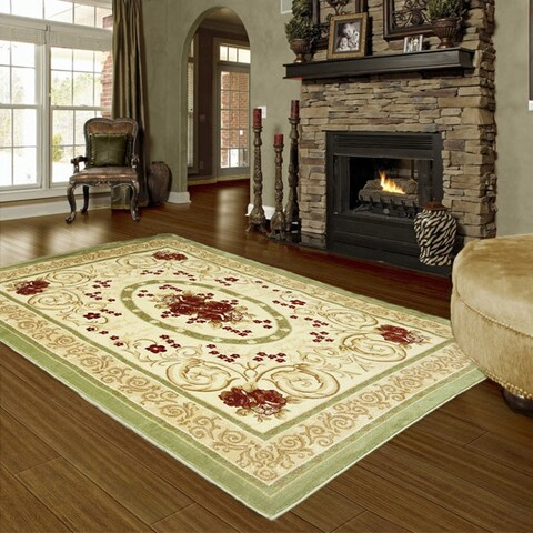 LYKE Home Audrey Green Area Rug - 8' x 11'