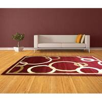 LYKE Home Audrey Red Area Rug
