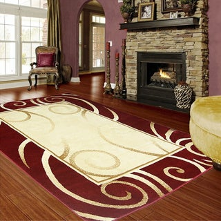 LYKE Home Audrey Red Area Rug - 5' x 8'