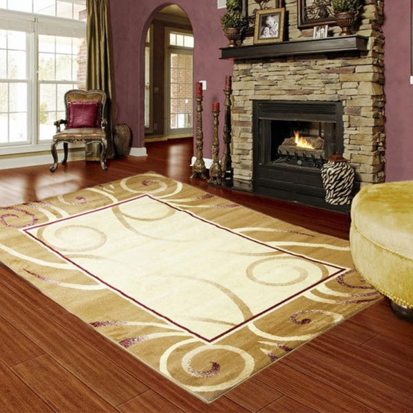 LYKE Home Audrey Gold Area Rug (5' x 8') - 5' x 8'