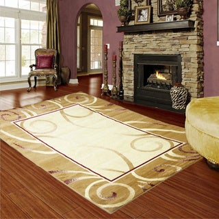 LYKE Home Audrey Gold Area Rug (8' x 11') - 8' x 11'