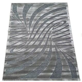 LYKE Home Hazel Grey Area Rug (5' x 8')