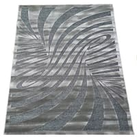 LYKE Home Hazel Grey Area Rug (5' x 8')
