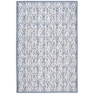 Nourison Home and Garden Ivory/ Navy Indoor/ Outdoor Area Rug (6'6 x 9'9)