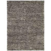 Nourison Fantasia Grey Shag Area Rug - 5'6 x 7'5