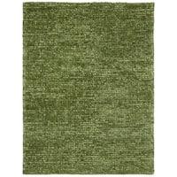 Nourison Fantasia Green Shag Area Rug - 5'6 x 7'5