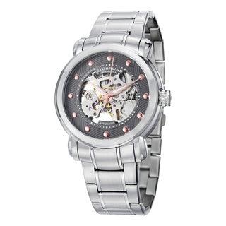 Stuhrling Original Men's Automatic Skeleton Stainless Steel Bracelet Watch