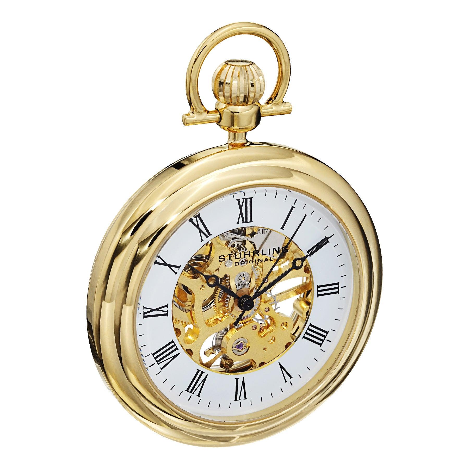 7d6c43477 Shop Stuhrling Original Men's Mechanical Vintage Pocket Watch - Free  Shipping Today - Overstock - 9930424