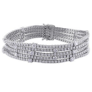 Miadora Signature Collection 18k White Gold 13 1/8ct TDW Diamond Bracelet (G-H, SI1-SI2)