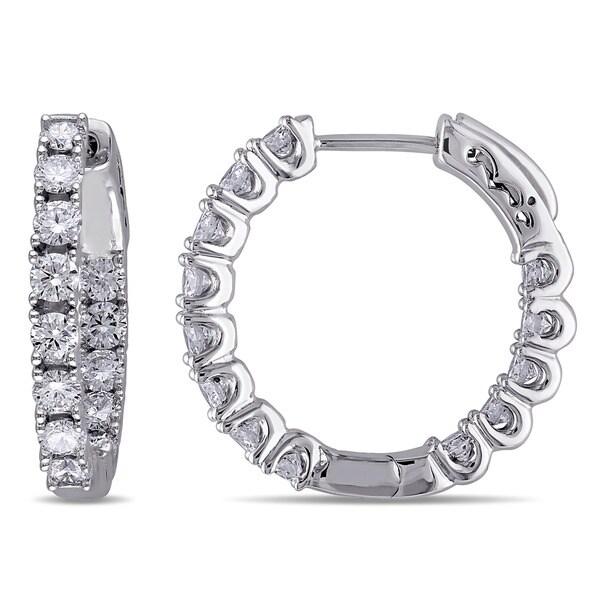 c6eb97204eebd Shop Miadora Signature Collection 14k White Gold 1 1/3ct TDW Diamond ...