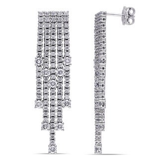 Miadora Signature Collection 18k White Gold 4 1/5 ct TDW Diamond Chandelier Earrings (G-H, SI1-SI2)