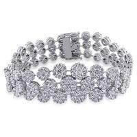 Miadora Signature Collection 18k White Gold 16 3/4ct TDW Diamond Bracelet