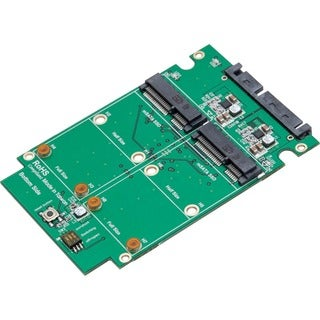 SYBA Dual mSATA SSD to SATA III RAID Enclosure with Complete Screw Se