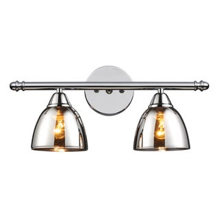 Polished Chrome Reflections 2-Light Vanity
