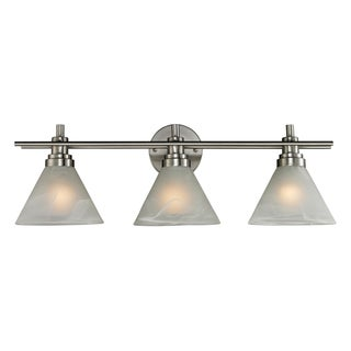 Brushed Nickel Pemberton 3-Light Bath