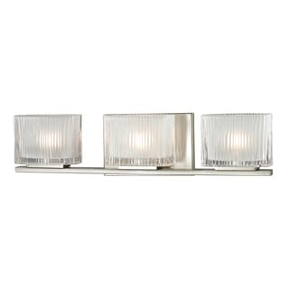Brushed Nickel Chiseled Glass Collection 3-Light bath