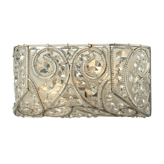 Aged Silver Andalusia Collection 2-Light bath